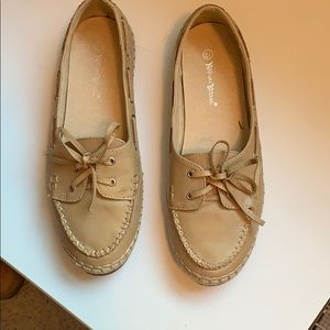 Moccasin slip on shoe